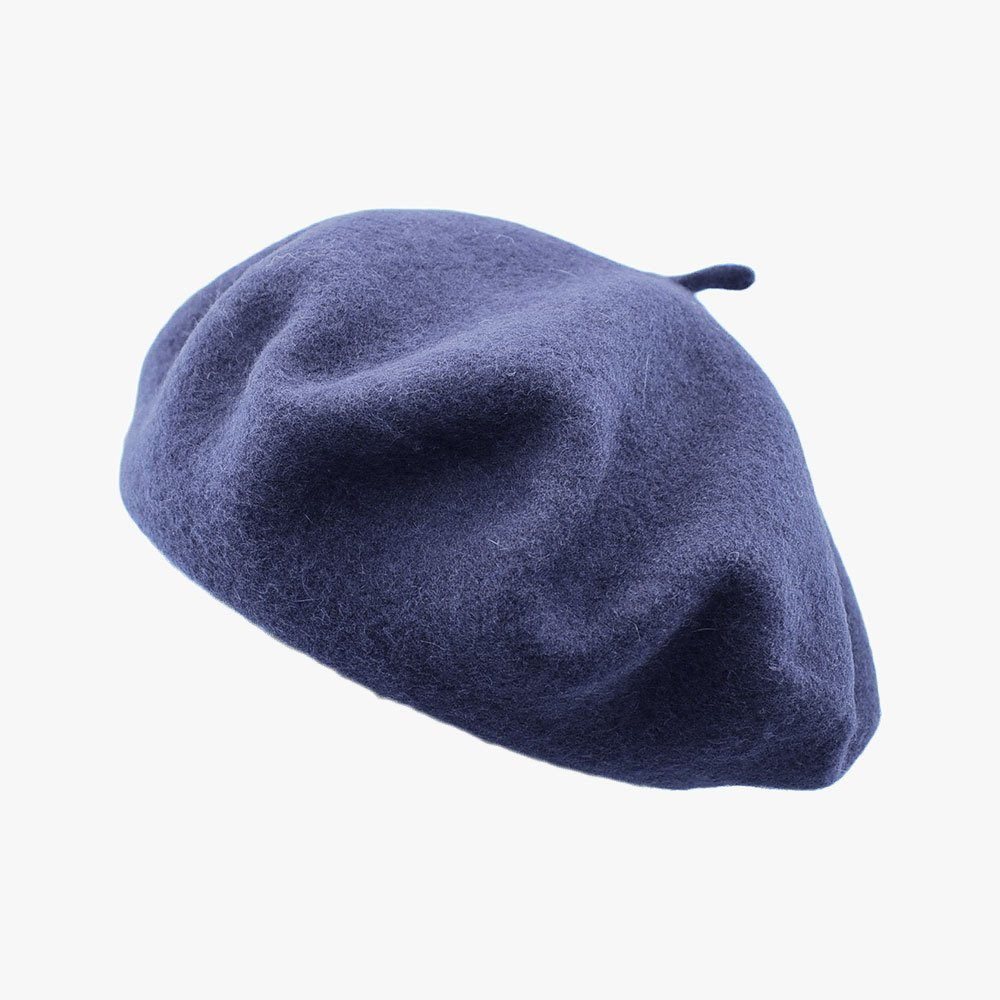 Vintage Beret - Purple Blue