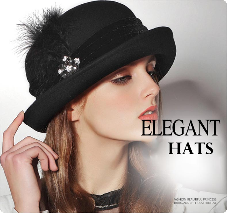 Elegant hat displayed by our model