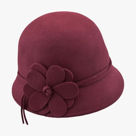Wool Lilac 1920s – Wine Red