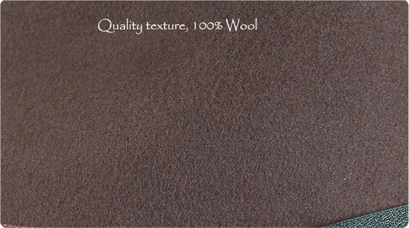 Quality texture with 100% wool
