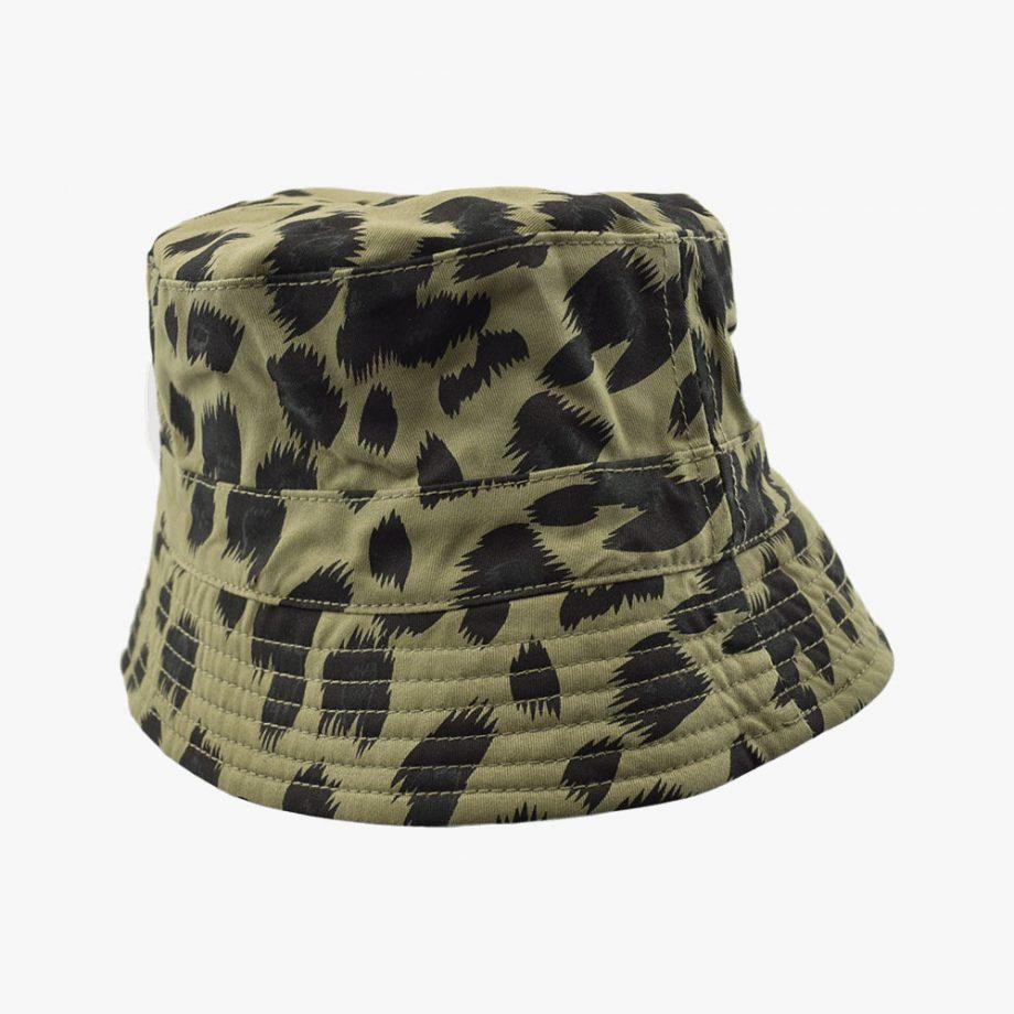 Flat Leopard Bucket Hat