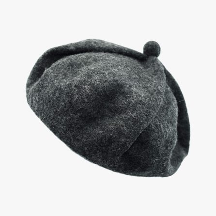 Cute Pumpkin Beret – Grey