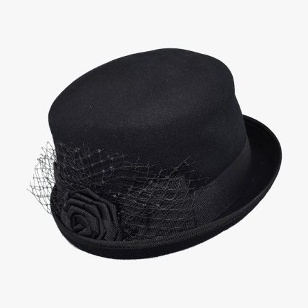 Meshy Derby Hat – Black