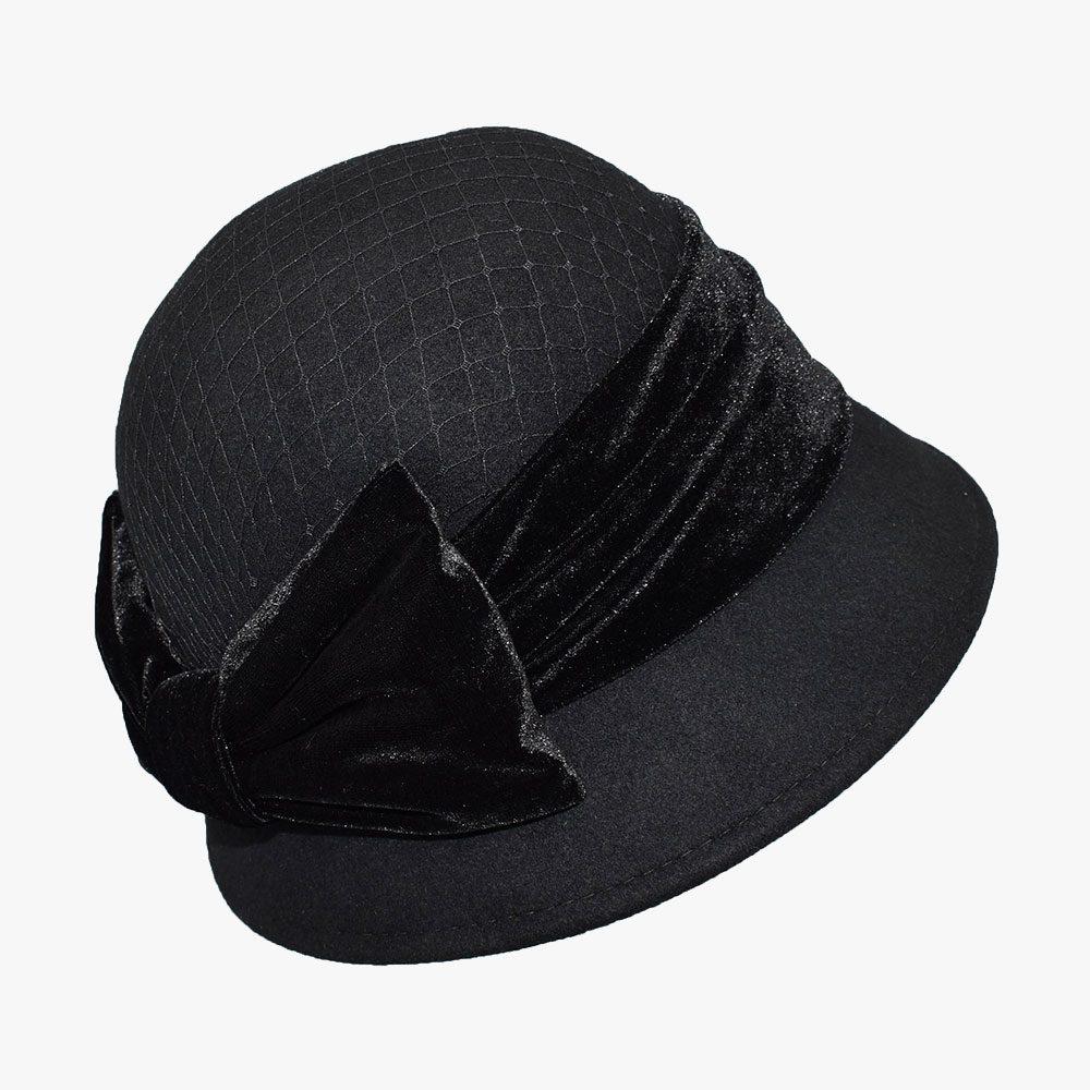 Dark Cloche Hat