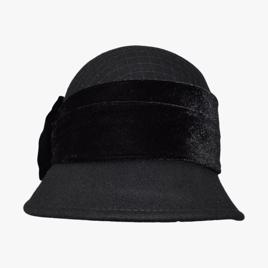 Dark Cloche Hat