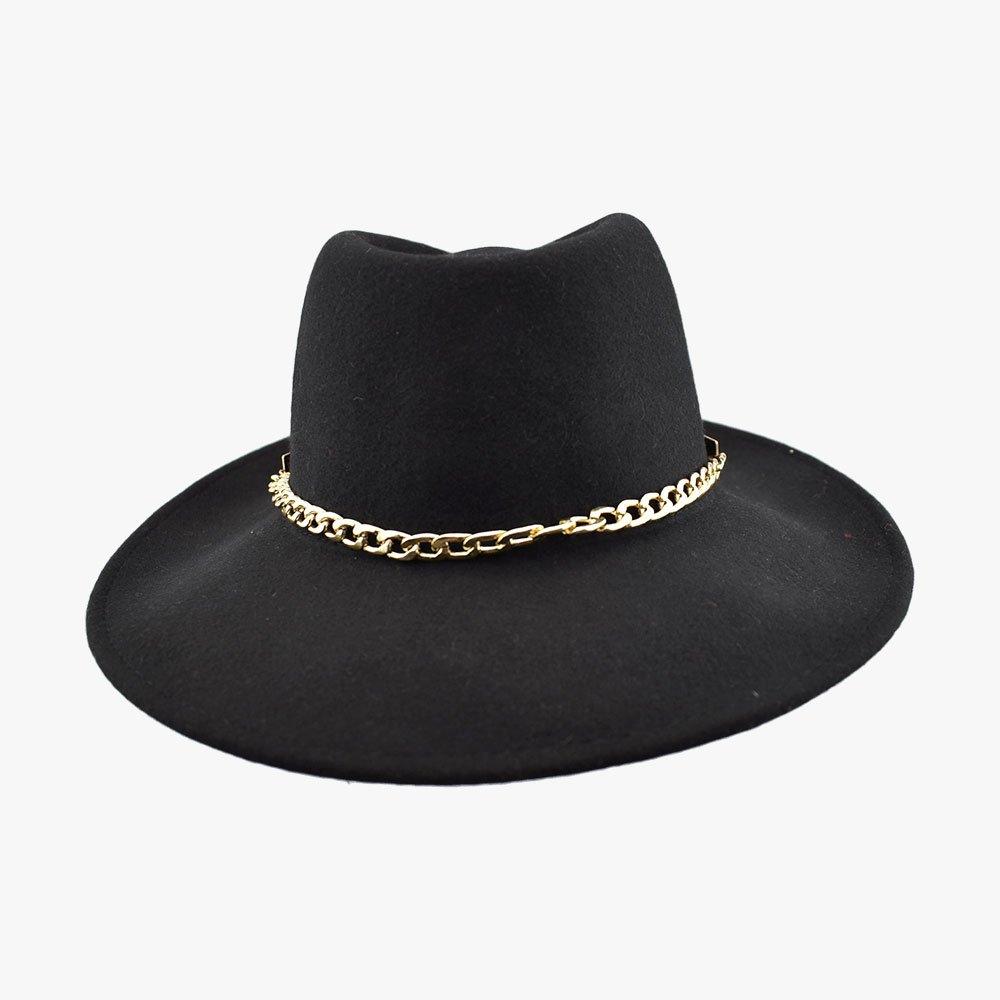 Buy Chain Fedora Hat - Black Online Australia - Need4 Hats 89c32b54a83