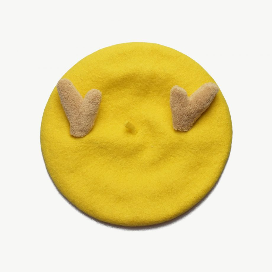 My Deer Beret For Kids - Yellow