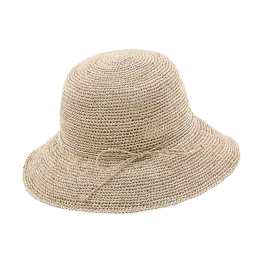 Raffia Fordable Bucket Sun Hat
