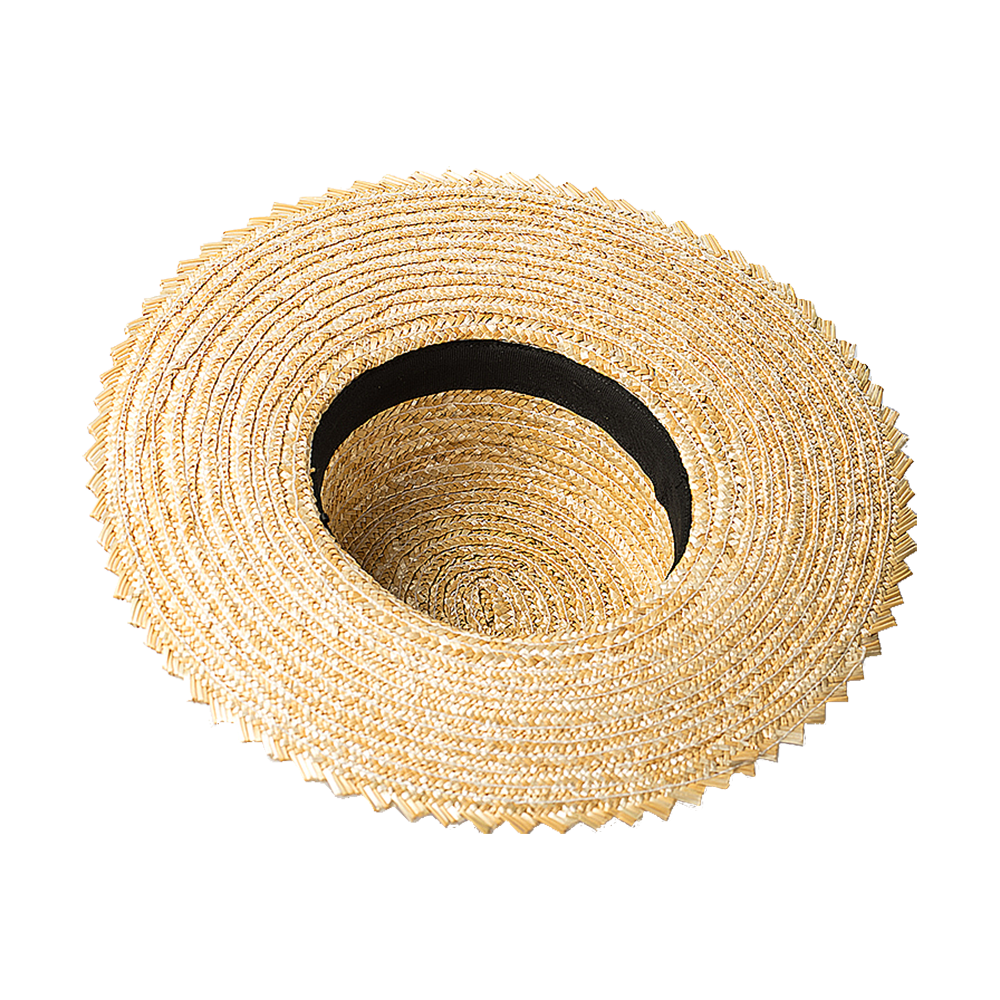 Raw Straw Handmade Boater