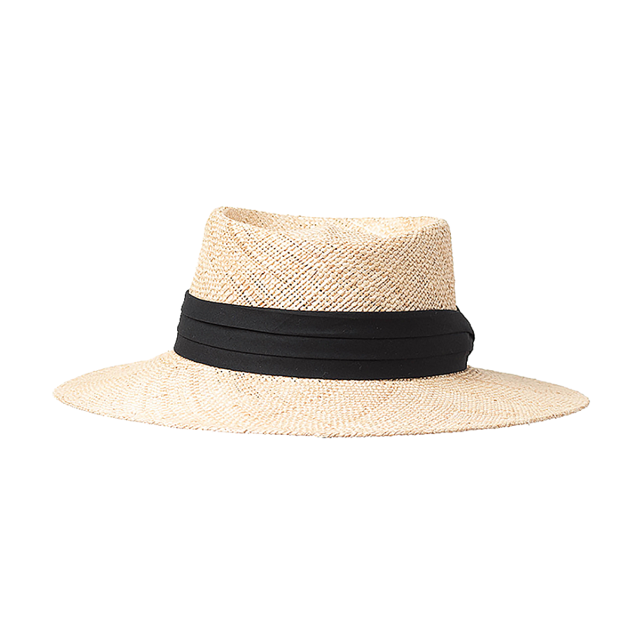 Yacht Hopper Straw Boater Hat