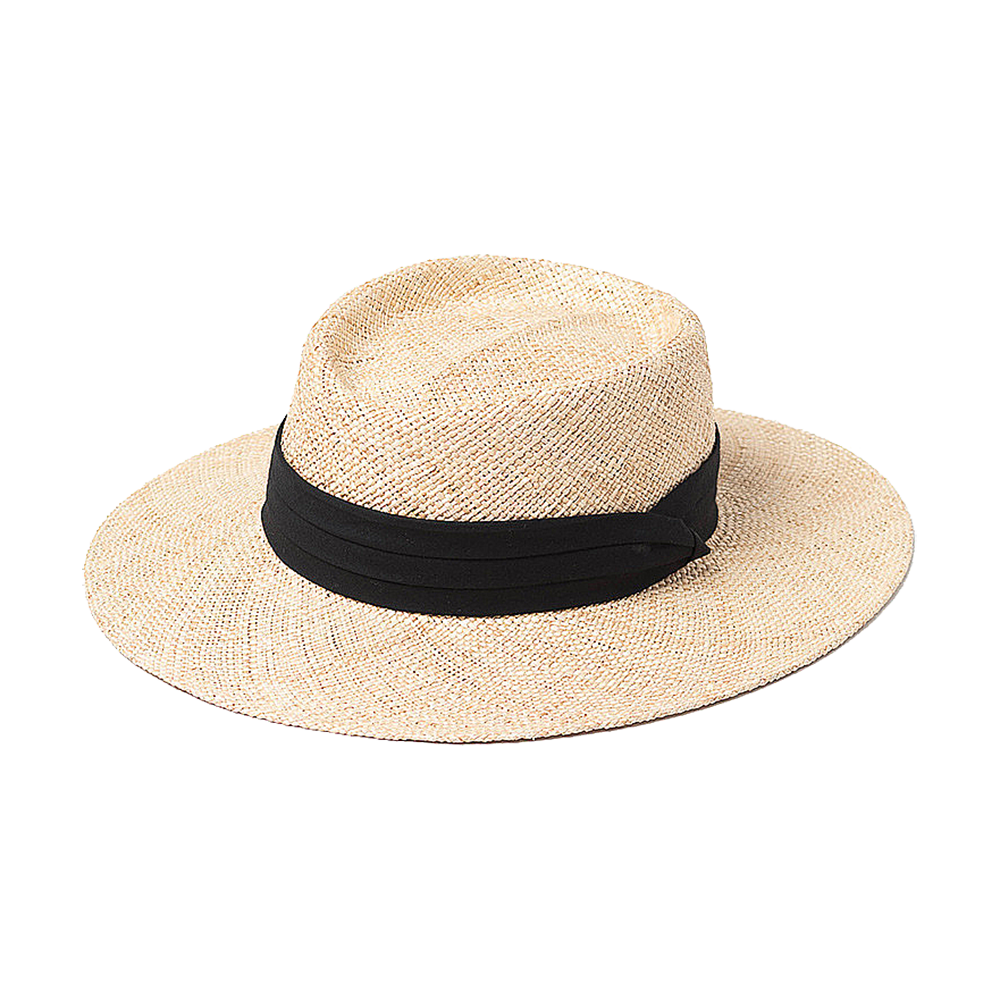 Straw Style Boater Hat