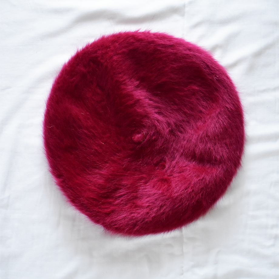 rabbit fur wine red1