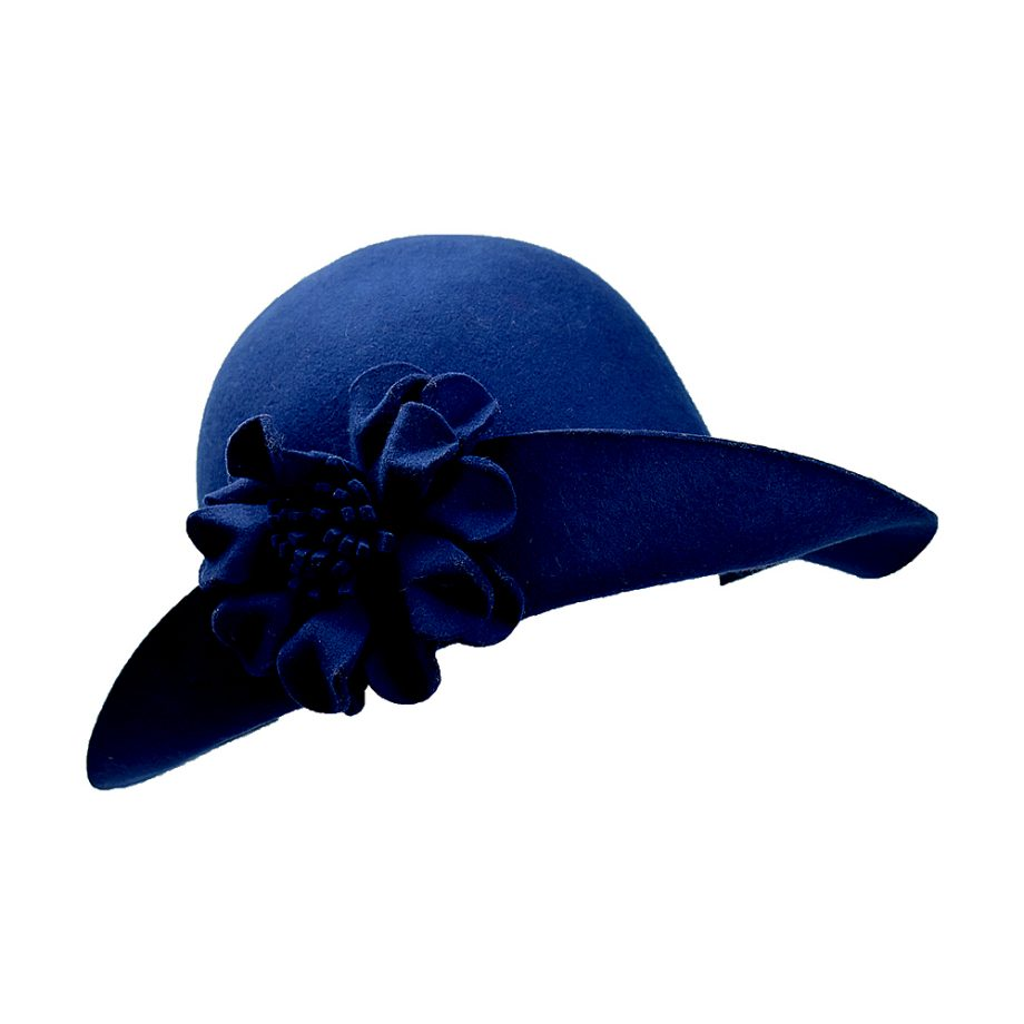 The flowery chilli hat - Blue