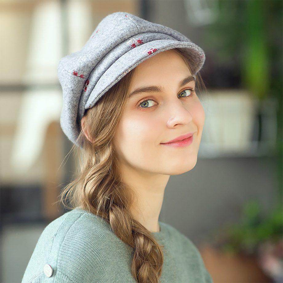 Little Flower Grey Cap
